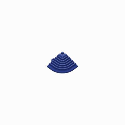 Afwerkrand voor 18mm kliktegels hoekstuk ultramarineblauw