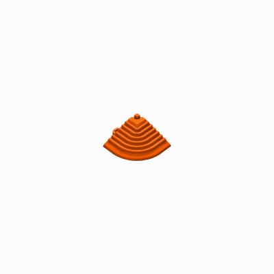 Afwerkrand voor 18mm kliktegels hoekstuk oranje
