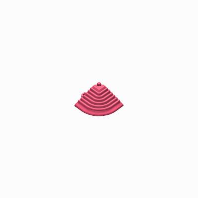 Afwerkrand voor 18mm kliktegels hoekstuk pink