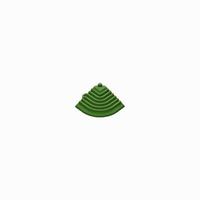 Afwerkrand voor 18mm kliktegels hoekstuk groen