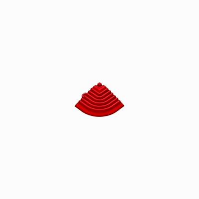 Afwerkrand voor 18mm kliktegels hoekstuk rood