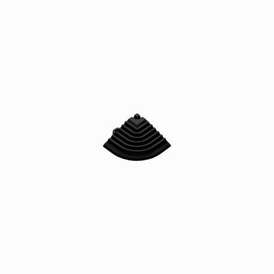 Afwerkrand voor 18mm kliktegels hoekstuk zwart