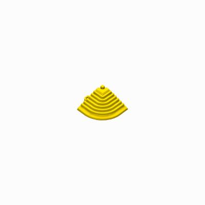 Afwerkrand voor 18mm kliktegels hoekstuk geel