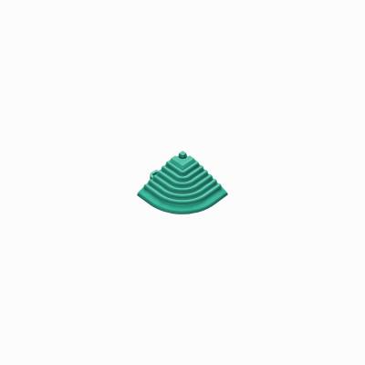 Afwerkrand voor 18mm kliktegels hoekstuk turquoise