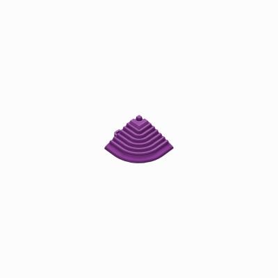 Afwerkrand voor 18mm kliktegels hoekstuk violet