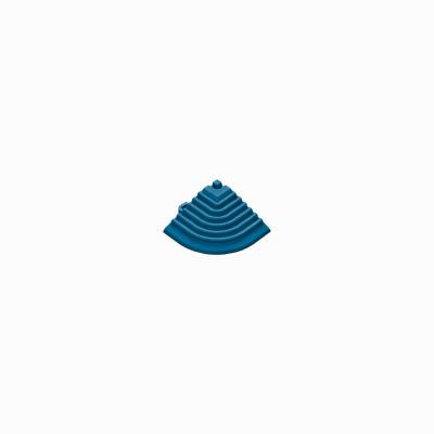 Afwerkrand voor 18mm kliktegels hoekstuk blauw