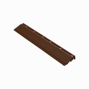 Afwerkrand recht voor 18mm kliktegels bruin