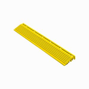 Afwerkrand recht voor 18mm kliktegels geel
