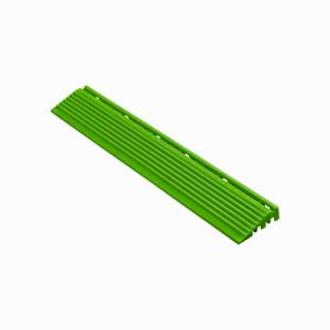 Afwerkrand recht voor 18mm kliktegels geel-groen