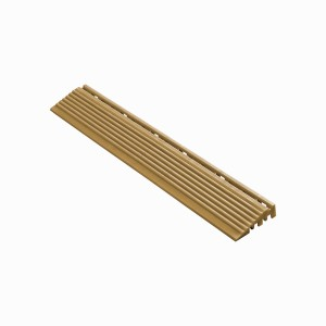 Afwerkrand recht voor 18mm kliktegels goud