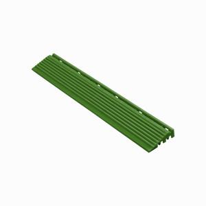 Afwerkrand recht voor 18mm kliktegels groen