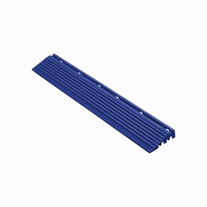 Afwerkrand recht voor 18mm kliktegels ultramarineblauw