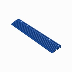 Afwerkrand recht voor 18mm kliktegels reflexblauw