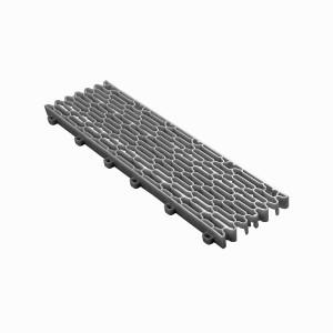 Expansieprofiel voor 18mm kliktegels recht grijs-alu