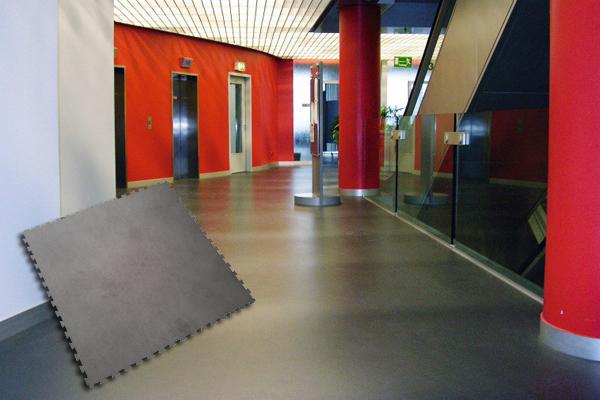 Vloeren voor leslokalen, gangen of aula