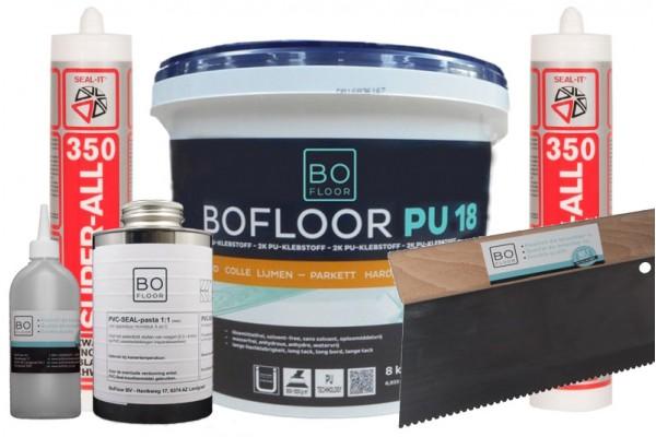 Toebehoren en hulpmaterialen voor pvc tegels