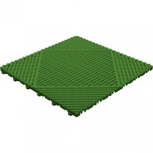 Kliktegel met afgeronde open ribben groen