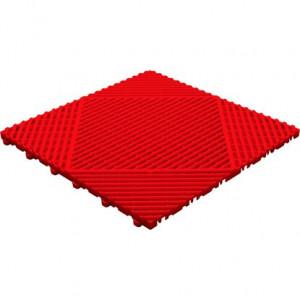 Balkontegel open-ronde ribben Classic rood