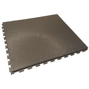 Werkplaatsvloer 10 mm pvc kliktegel boomschorsstructuur antraciet