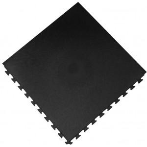 Werkplaatsvloer pvc kliktegel waterdicht 10 mm zwart