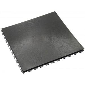 Werkplaatsvloer 10 mm pvc kliktegel vloeilijnstructuur antraciet