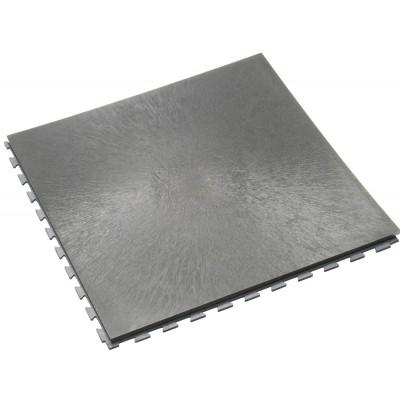 Werkplaatsvloer 10 mm pvc kliktegel vloeilijnstructuur grijs