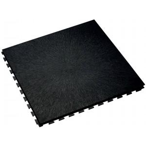 Werkplaatsvloer 10 mm pvc kliktegel boomschorsstructuur zwart
