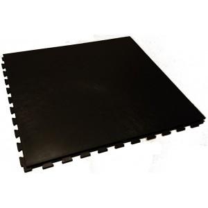 Werkplaatsvloer 10 mm pvc kliktegel vloeilijnstructuur zwart