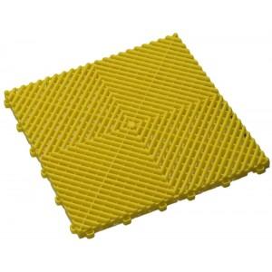 Restpartij 36 m² kliktegels open structuur 18 mm geel