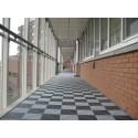 Balkonvloer donker-grijs