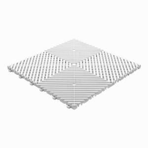 Restpartij 66 m² kliktegels open structuur 18 mm wit