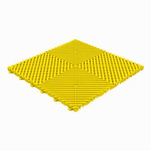 Restpartij 32 m² kliktegels open structuur 18 mm geel