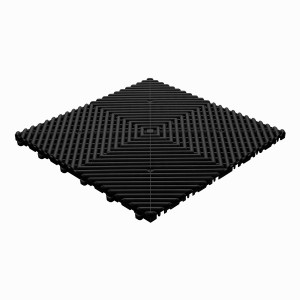 Garagevloer open rib rond zwart