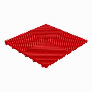 Garagevloer BoDeck ronde rib rood