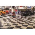Beursstand-vloer traanplaatmotief 18 mm wit