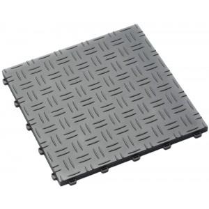 Garagetegel Diamond met traanplaatmotief alu-grijs 18 mm