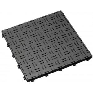 Garagetegel Diamond met traanplaatmotief zwart 18 mm