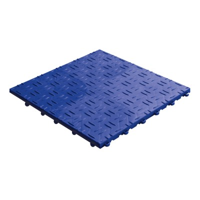 Werkplaatsvloer kliktegel traanplaat blauw