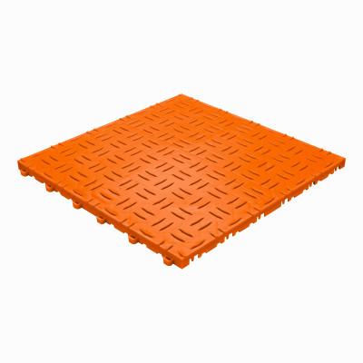 Werkplaatsvloer kliktegel traanplaat oranje