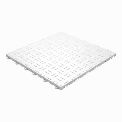 Werkplaatsvloer kliktegel traanplaat wit