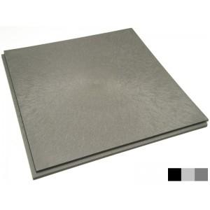 Restpartij  26 m2  pvc lip-lastegel vloeilijnstructuur diverse kleuren grijs