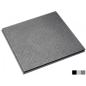 Horecavloer BoFix 10 mm pvc antislip lip-lastegel R13-V6-structuur grijs