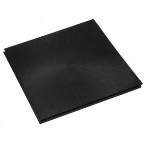Horecavloer pvc lip-lastegel 10mm vloeilijnstructuur zwart