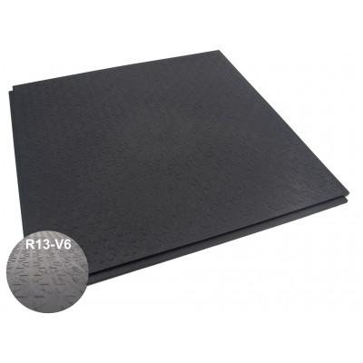 BoFix 10 mm pvc antislip lip-lastegel R13-V6-structuur zwart