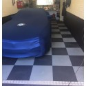 Garagevloer waterdicht pvc kliktegel 7 mm zwart