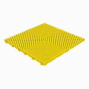 Balkontegel open-vlakke ribben geel