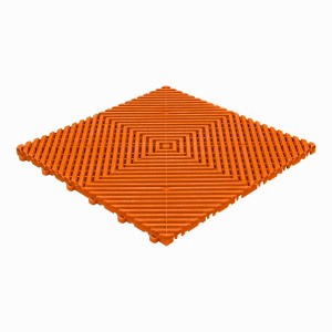 Balkontegel open-vlakke ribben oranje