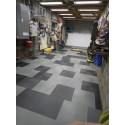 Garagevloer waterdicht; kliktegel 7 mm oranje