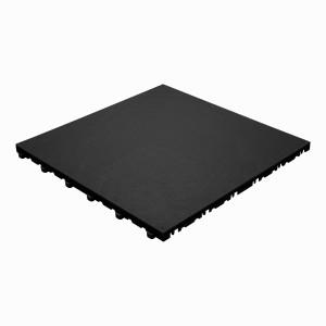 Garagevloer BoPelle leerstructuur zwart