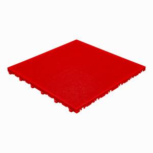 Garagevloer BoPelle leerstructuur rood
